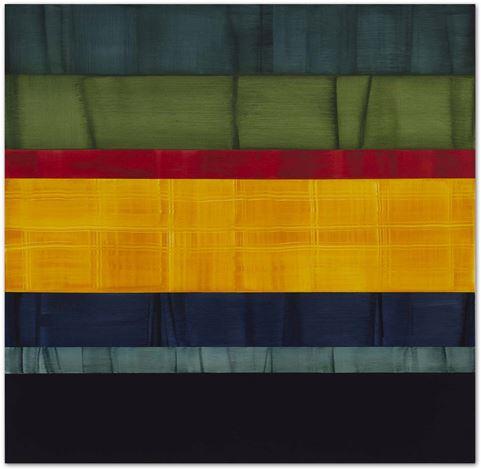 Ricardo Mazal, Compositions In Greens 10(2014). Oil on linen. 180.3 x 185.4 cm. Courtesy Sundaram Tagore Gallery.
