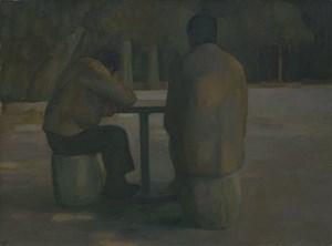 Cai Wei (Picking Fern) by Wang Yin contemporary artwork