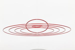 Circuconcentricos - Alu - Red by Elias Crespin contemporary artwork