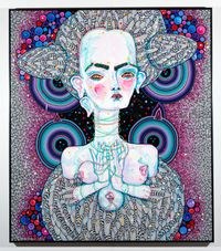 angel dribble by Del Kathryn Barton contemporary artwork painting