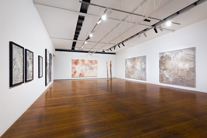 Exhibition view: Nyapanyapa Yunupiŋu,The Little Things, Roslyn Oxley9 Gallery, Sydney (28 January—27 February 2021). Courtesy Roslyn Oxley9 Gallery. Photo: Luis Power