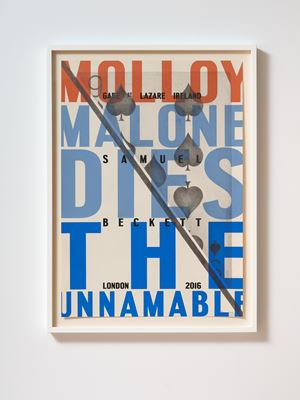 Molloy Malone Dies The Unnamable by Denis O'Connor contemporary artwork