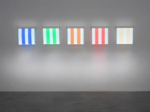 5 Colours of Electric Light: situated work by Daniel Buren contemporary artwork