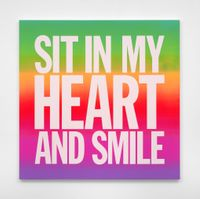 SIT IN MY HEART AND SMILE by John Giorno contemporary artwork painting
