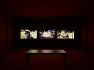 Triptych by John Akomfrah contemporary artwork