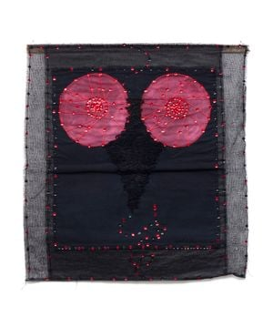 Moon Interrupted by Lightening by Clemen Parrocchetti contemporary artwork