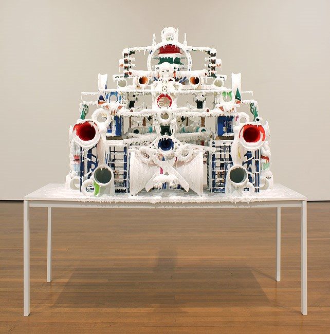 White Discharge (Built-up Objects #15) by Teppei Kaneuji contemporary artwork