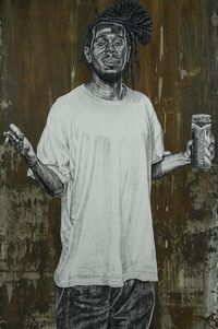 C by Alfred Conteh contemporary artwork painting, works on paper, drawing