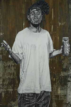C by Alfred Conteh contemporary artwork