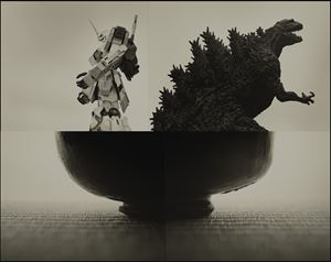 Gundam and Godzilla (C81415) by Keiichi Ito contemporary artwork