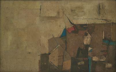 Ram Kumar, Bombay (1967). Oil on canvas. 62 x 100 cm / 24.4 x 39.3 in. CourtesyGalerie Mirchandani + Steinruecke.
