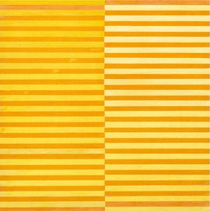 Ricerca del colore. Giallo su arancio by Dadamaino contemporary artwork