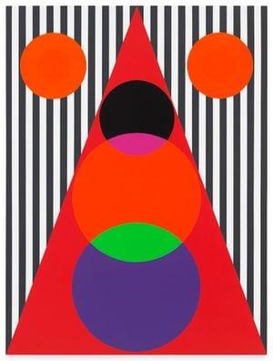 Untitled (Double Sun/Sonhouse) by Rico Gatson contemporary artwork