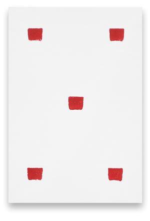 Empreintes de pinceau N°50 à intervalles réguliers de 30 cm by Niele Toroni contemporary artwork