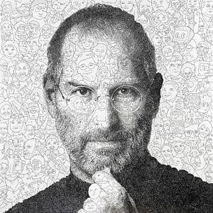 Hystorical Portraits - vol. 4 Steve Jobs by Keita Sagaki contemporary artwork