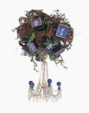 Video Chandelier X by Nam June Paik contemporary artwork sculpture, installation, mixed media