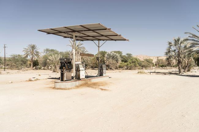 The Petrol Pump by Margaret Courtney-Clarke contemporary artwork