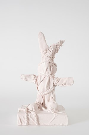 Wrapped Bunny by Daniel Arsham contemporary artwork