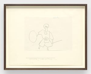 Clown als Knabe (Clown as a boy) by Paul Klee contemporary artwork