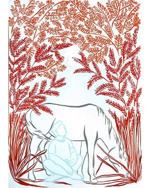 Luna Rossa (Le Meneur de Lune | 领月人) by Tess Dumon contemporary artwork