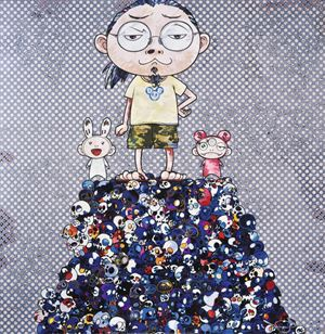 Kiki and Me-On the Blue Mound of the Dead by Takashi Murakami contemporary artwork