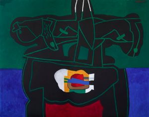 Hidden Gift by Dia Al-Azzawi contemporary artwork