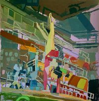 Olympic HighBeam by Clintel Steed contemporary artwork painting, works on paper