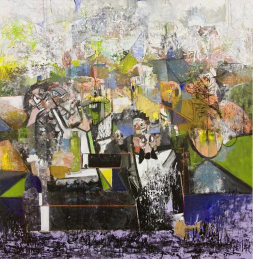The Fallen Butler by George Condo contemporary artwork