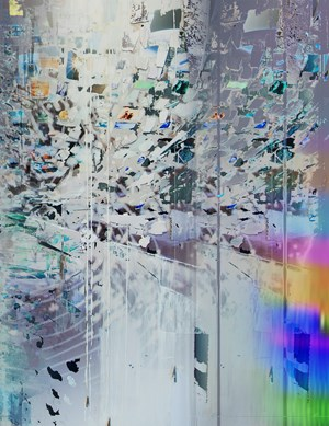 Afterimage, Silver (Painting in its Archive) by Sarah Sze contemporary artwork
