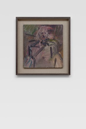 David Landau Seated by Frank Auerbach contemporary artwork