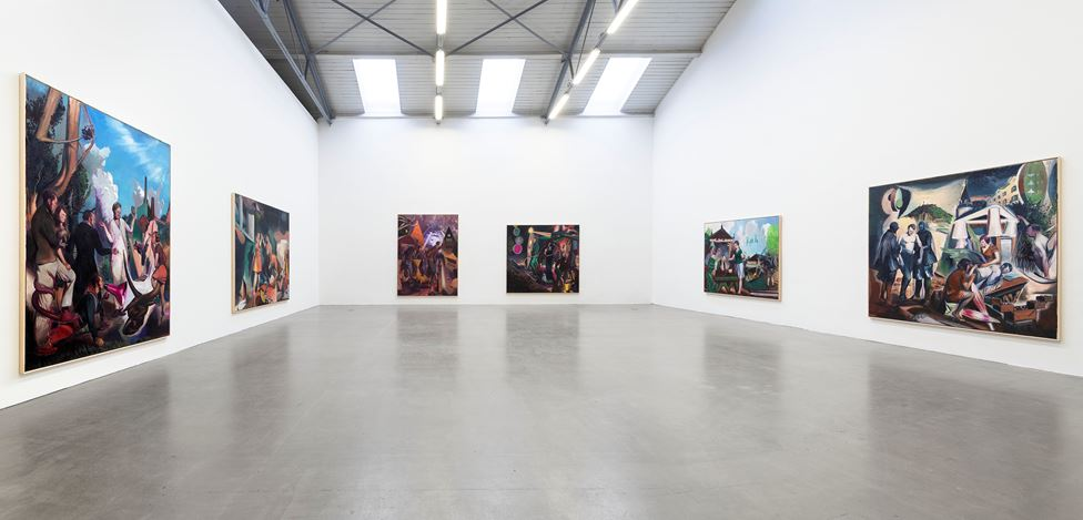 Exhibition view: Neo Rauch, Handlauf, Galerie EIGEN + ART, Leipzig (26 September–28 November 2020). Courtesy Galerie EIGEN + ART. Photo: Uwe Walter, Berlin.