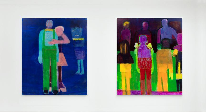 Exhibition view:Katherine Bradford, Campoli Presti, London (10 December–4 January 2021). Courtesy Campoli Presti.