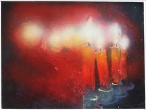 Abglanz (Kerzen) by Robert Klümpen contemporary artwork