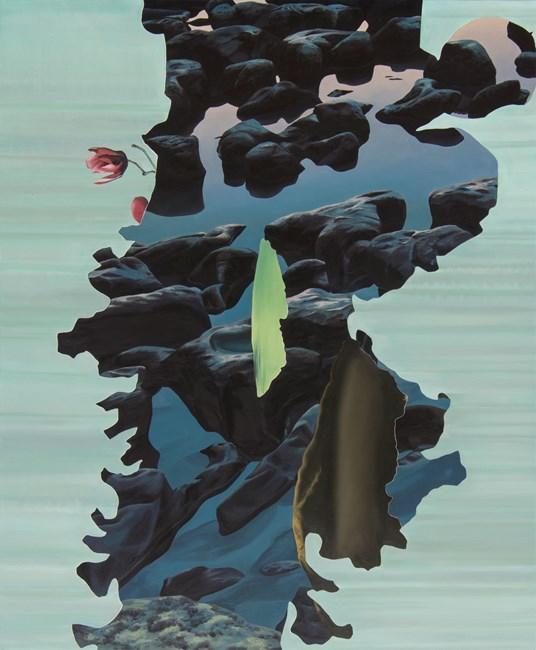 Rocks in water by Alice Wormald contemporary artwork