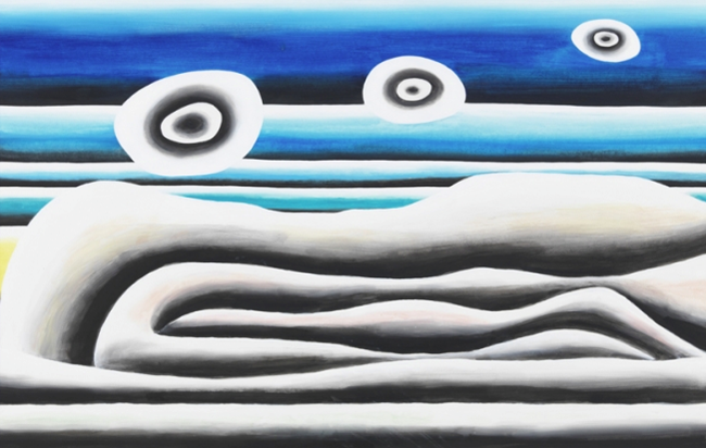 Untitled (Bett Am Meer 3) by Andreas Schulze contemporary artwork