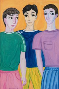 Boys in My Dreams by Julia Long contemporary artwork painting