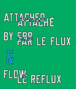 ATTACHED BY EBB & FLOW by Lawrence Weiner contemporary artwork mixed media