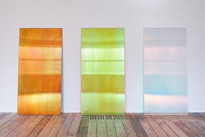 CL2BK, Pinky Sunset R, CL2 Blue Shadow by Ann Veronica Janssens contemporary artwork