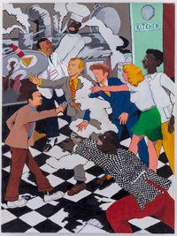 Kitchen Assassination by Robert Colescott contemporary artwork painting