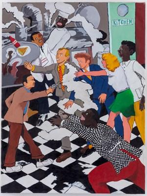 Kitchen Assassination by Robert Colescott contemporary artwork