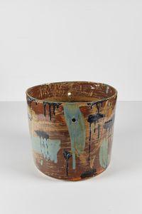 Untitled Large Planter 14 by Rashid Johnson contemporary artwork ceramics