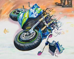 Heartbroken Motorbike #2 伤心摩托车#2 by Yan Xinyue contemporary artwork