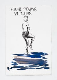 No Title (You're showing...) by Raymond Pettibon contemporary artwork painting, works on paper, drawing