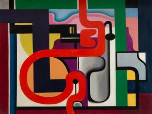 Composition by Auguste Herbin contemporary artwork