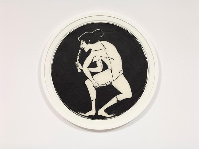 Dildo Dancer Circle by Nancy Spero contemporary artwork