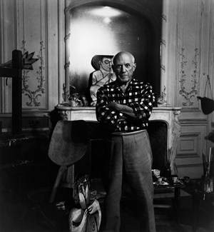 Picasso à la Californie, Cannes 4.XI.1955 by Lucien Clergue contemporary artwork