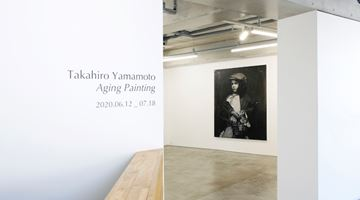 Contemporary art exhibition, Takahiro Yamamoto, Aging Painting at MAKI, Omotesando, Tokyo