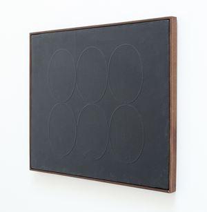 6 ovali neri by Turi Simeti contemporary artwork