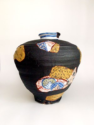 Yobitsugi Style Vase by Aaron Scythe contemporary artwork
