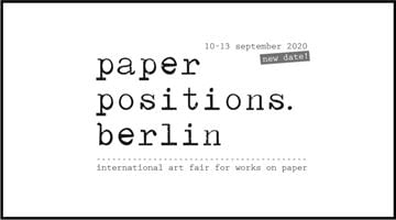 Contemporary art exhibition, paper positions berlin 2020 at Galerie Thomas Schulte, Berlin